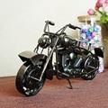 Мода черный цвет древних металл ремесло Motocycle модель игрушки для детей и украшения дома