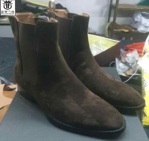 2019 FR.LANCELOT Brand Hot Sales Suede Leather Chelsea Boots