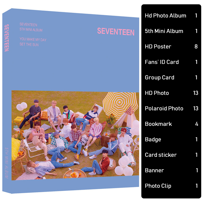 KPOP SEVENTEEN Photo Album Set Signature Poster Gift Package SEVENTEEN Poster Gifts for Fans Peripheral Products Drop Shipping