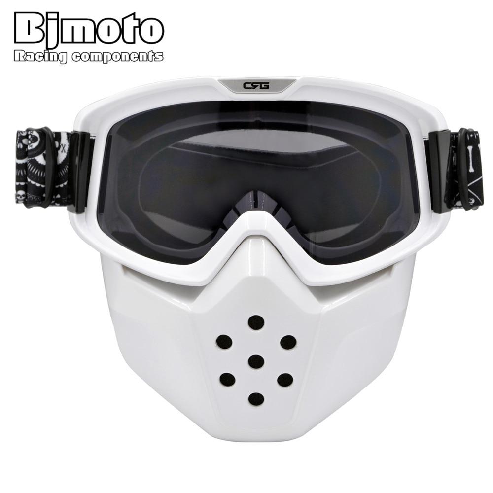 0f561c700c568 Óculos de Marca CRG Motocicleta Máscara Facial Máscara de Poeira com  Destacável E Boca Do Filtro para Modular para Abrir Rosto Moto Vintage  capacetes em ...