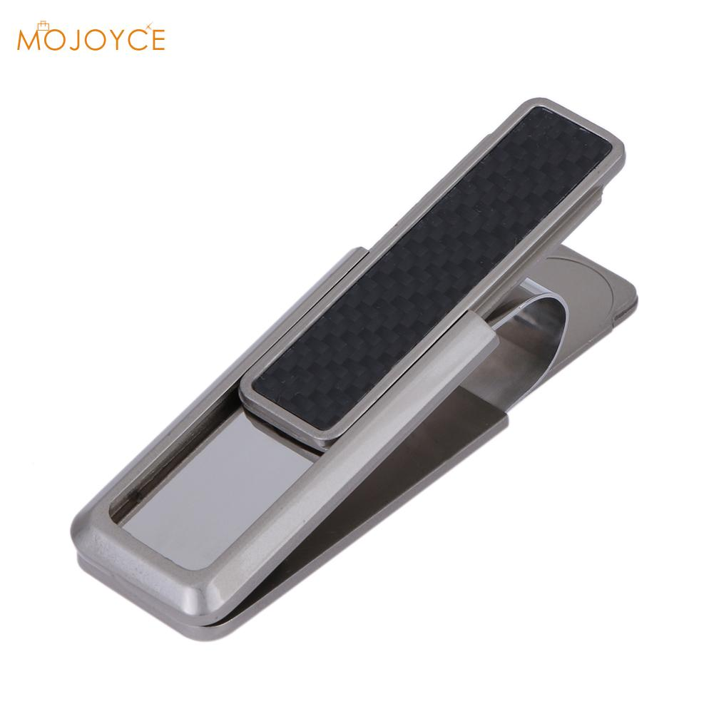 High quality Stainless Steel Alloy Mens Money Clip Wallet Women Slim Metal Money Holder Couple Safe ID Card Clip Clamp for Money high quality stainless steel money clips wallet folder clip collar metal clip simple money clip stainless steel money clamp hold