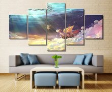 ONE PIECE Going Merry Anime 5 Piece HD Print Wall Art Canvas For Living Room Decor Painting Home