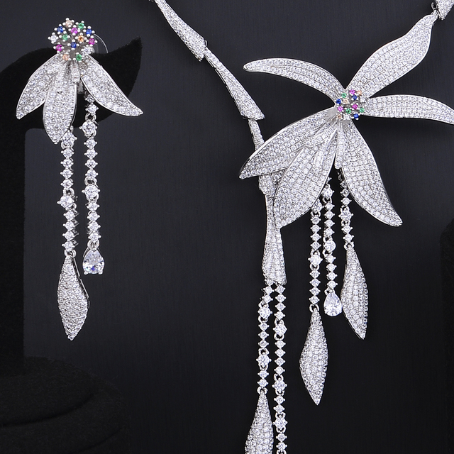 Silver Cubic Zirzonia Jewelry Set