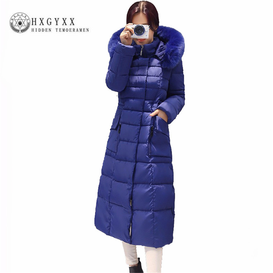 Ukraine Hot Sale Real Full Zipper Winter Jacket Women 2017 Coat Long Parka Cotton-padded Coats Wadded Jackets Plus Size 4 Aa400  hot sale 2015 new mens fur hoolded wadded coats winter long cotton padded coats women couples winter jackets plus size h4590