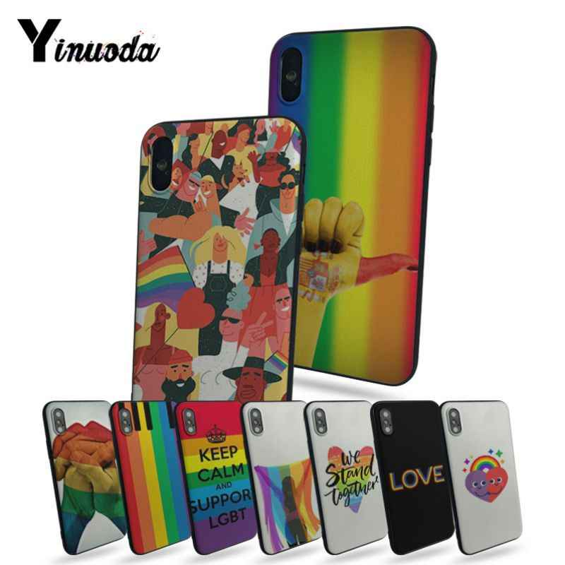 Yinuoda Gay Lesbian LGBT Rainbow Pride ART Painted cover Style Cell Phone Case For iphone x 8 8plus 7 7plus 6 6plus 5 5s 5c SE