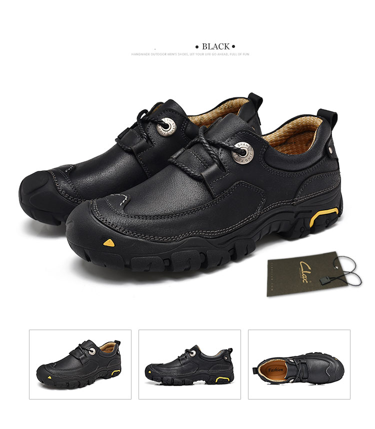441e333ea94 CLAX Mens Ankle Boot Genuine Leather Spring Autumn Casual Boots Outdoor  Male Work Shoe Handmade Safety Footwear Walking Shoes