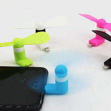 Summer Outdoor Travel Apple Mobile Fan Mini Portable pleasantly cool handset Charging mini USB Fan student Office