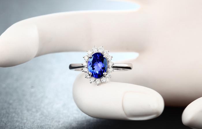 Здесь продается  1.53 Carat 925 Sterling Silver Tanzanite  Blue Flower Shape synthetic diamond  Wedding Engagement Jewelry Sapphire Ring (CM)  Ювелирные изделия и часы