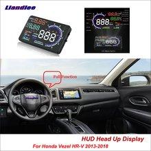 Liandlee Full Function HUD Car Head Up Display For Honda Vezel HR-V 2013-2018 Safe Driving Screen OBD Data Projector Windshield