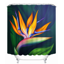 Colorful Flower 3d Shower Curtains Morning Glory Pattern Bathroom Curtain Waterproof Thickened Bath Customizable