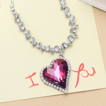 Neoglory Austria Crystal Czech Rhinestone Heart Necklaces & Pendants for Women  Jewelry Accessories Fashion Gift