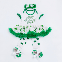 St Patricks Day Baby Girls Romper Cotton Romper
