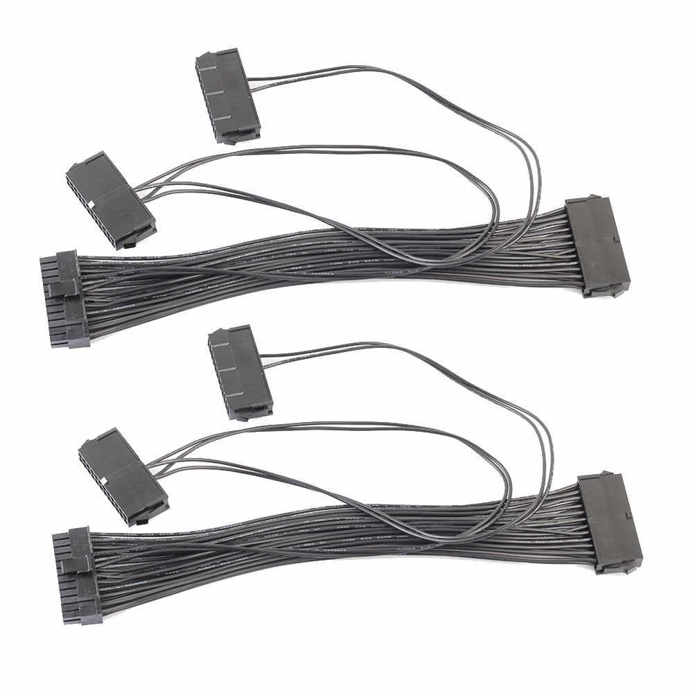 3 יציאת PSU 24 פין ATX אספקת חשמל 20 + 4PIN האם מתאם מחבר כבל זרוק חינם Z513