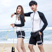 New Long Sleeves Rash Guards Swimsuit For People Surf Clothing Swimwear Windsurfing Quick Drying Black And