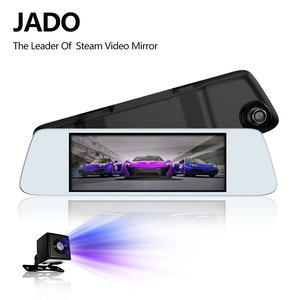 Image 1 - JADO D560 rejestratory samochodowe 6.86 ekran LCD Full HD 1080 P rejestratory samochodowe rejestrator na lusterko wsteczne Dash cam rejestrator