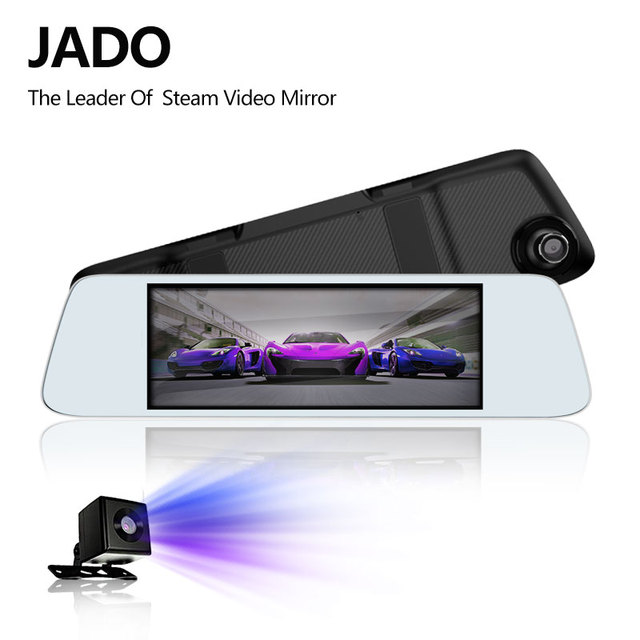JADO D560 rejestratory samochodowe 6.86 ekran LCD Full HD 1080 P rejestratory samochodowe rejestrator na lusterko wsteczne Dash cam rejestrator