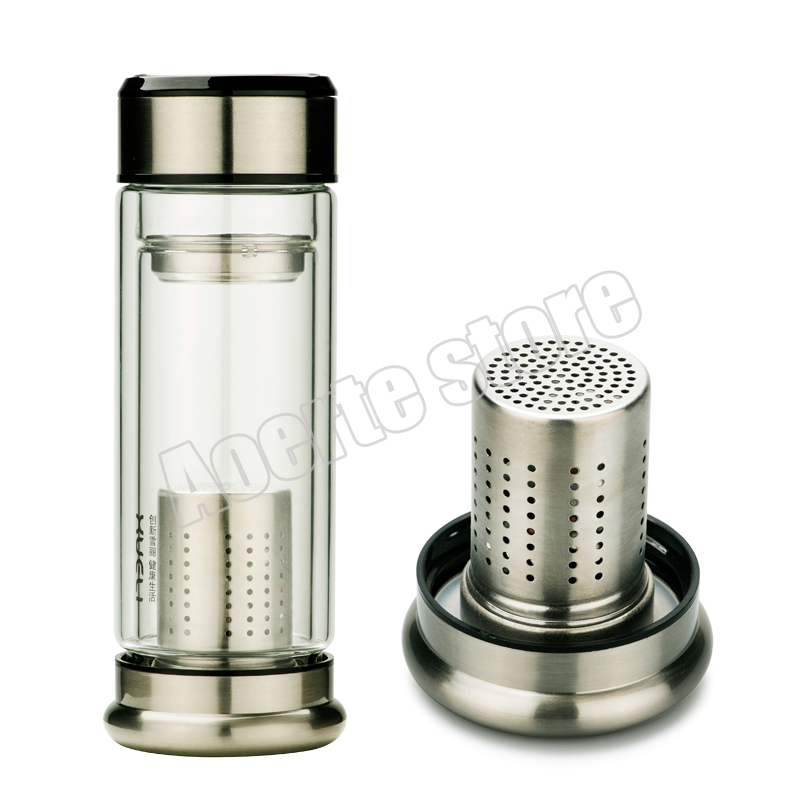 1e87ed0210 New Arrival Fashion 250mL glass water bottle kettle with tea infuser stainless  steel filter