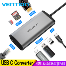 Vention Usb Hub USB Type C to HDMI 3.0 HUB Thunderbolt 3 Adapter For MacBook Samsung S9 S10 Huawei Mate 20 P30 Pro USB-C
