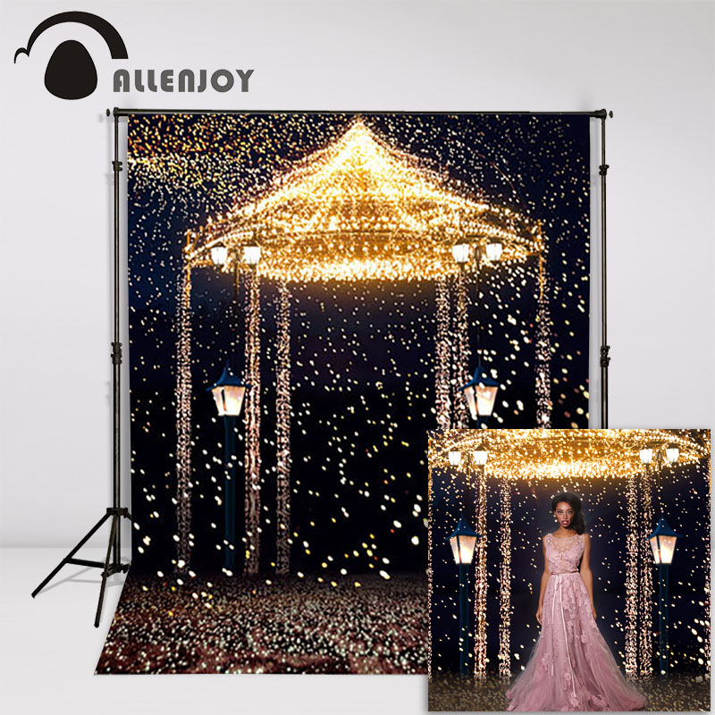 Allenjoy 5ftx7ft Wedding Photo Studio Backdrop Photography Background Star Highlights romantic aesthetic fireworks castle custom