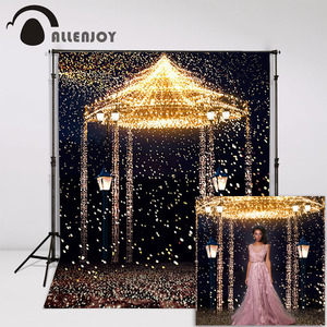 Image 2 - Allenjoy 5ftx7ft Wedding Photo Studio Backdrop Photography Background Star Highlights romantic aesthetic fireworks castle custom