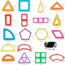52Pcs Big Size Magnetic Building Blocks Toys Triangle Square Brick Designer Enlighten Bricks Magnetic Toys Free Stickers Gift