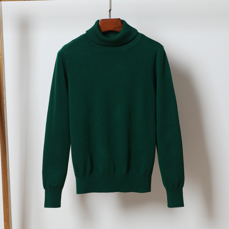 Casual Turtleneck Green Sweater For Women Red Pullovers Female Winter Jumper Knit Lady's Sweater Turtleneck Pull Femme Knit Tops