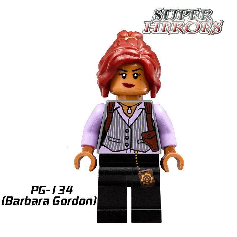 Educational Blocks Barbara Gordon Batman Movie Super Hero Star Wars Arkham Asylum DIY Action Building Bricks Kids DIY Toys PG134 neca dc comics batman arkham origins super hero 1 4 scale action figure