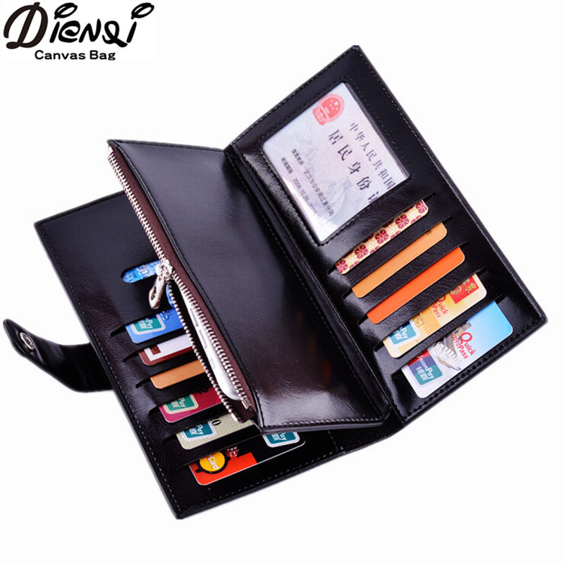 DIENQI New 2018 Leather Women Wallet Female Long Clutch Lady Walet Portomonee Rfid Luxury Brand Money Bag For Girls Coin Purse