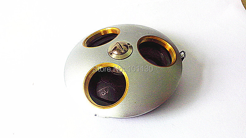 Microscope Accessories Nosepiece Three hole Biological Microscope Objective Lens Adapter