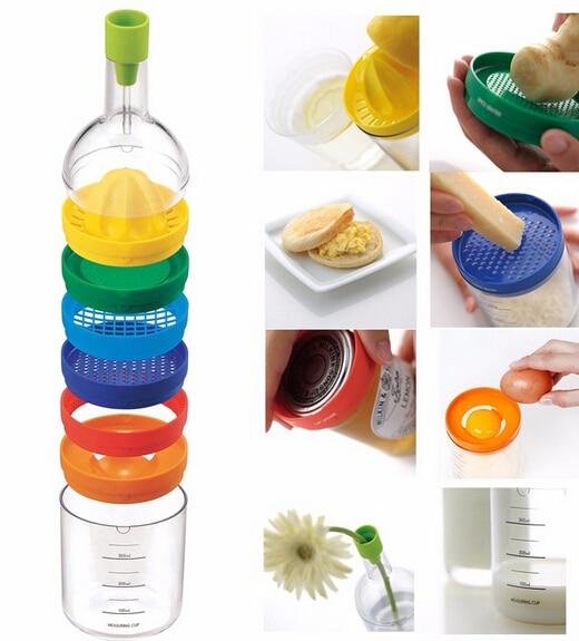 Új, multifunkcionális, 8 az 1-ben, konyhai szerszámkészlet, többfunkciós konyhai kiegészítők, eszköz, konyhai palackos eszközök Ingyenes házhozszállítás