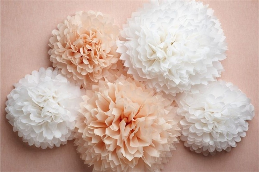 24 Colors Available tissue paper pom poms ball 8inch(20cm) 50pcs/lot ...