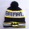 2016 Fashion High Quality Winter Cotton Hat Batman Beanies Knitted Hat Unisex Outdoor Warm Wool Knit Hat Cap For Women Men