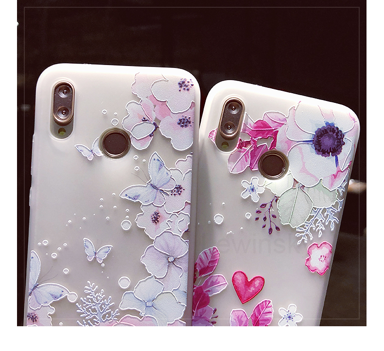 3D Relief Flower TPU Phone Case For Huawei P20 P10 P9 Lite P Smart Soft Silicone Case For On Honor 7C 7A Pro 7X 9 Lite 10 Cover
