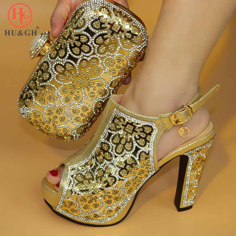 Latest Golden Color Italian Ladies Shoes and Bags To Match Set Nigerian Shoes and Matching Bag African Wedding Shoes and Bag Set italian gold color italian ladies shoes and bags to match set nigerian shoes and matching bag african wedding shoes and bag set