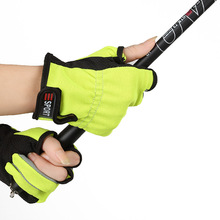 YeMuLang 3 Colors Men Sport Fishing Gloves Anti-Slip Outdoor Sport 3 Cut Fingers New  Fly Pesca Glove F098 Free Shipping