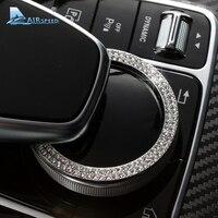 Airspeed For Mercedes Benz GLC Class E Class W213 Car Console Multimedia Knob Ring Diamond Decoration