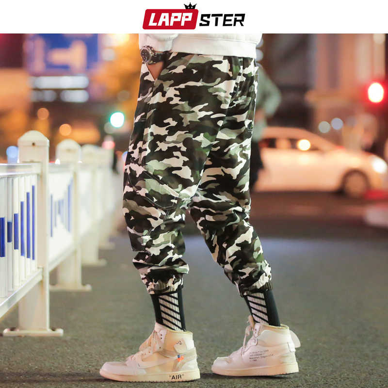 LAPPSTER Hüfte Hop Cargo Hosen Männer Camo Joggers 2020 Overalls Herren Japanischen Steetwear Schweiß Hosen Lose Track Hosen Baggy Hosen