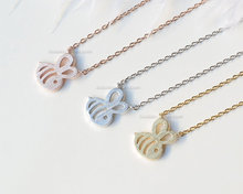 10PCS- N117 Tiny Bumble Bee Necklace Honey Bee Necklace Queen Bee Necklaces Cute Insect Beehive Bumblebee Necklaces bumble bee chunk light tuna in water