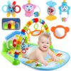 3 In 1 Newborn Infant Baby Game Bed Baby Toddler Cribs Crawling Activity Gym Mat Floor