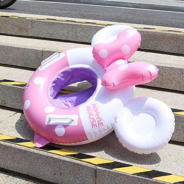 Mickey Minnie souris anneau de natation sortes gonflable infantile aisselles flottant anneaux bébé piscine jouet flotteur BuoyTY0386