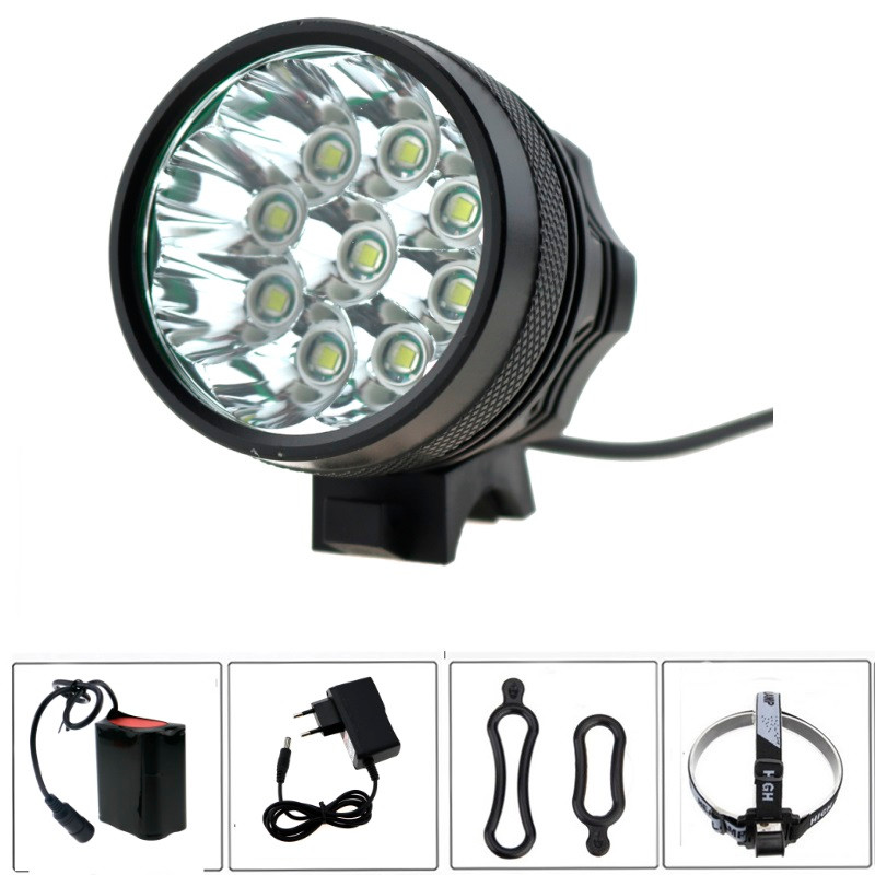 15000 Lumen 9x Cree XM-T6 LED Bicycle Light Bike Headlamp Flashlight for Cycling fishing + 8.4V 18650 Battery Pack + Charger 15000 lumen bicycle cycling lamp 8x cree xm l2 led bike front light headlight 18650 battery pack charger bike rear light