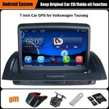 Обновлен оригинальный Android 7,1 Автомобильный мультимедийный плеер gps навигации костюм к для Volkswagen Touareg Поддержка Wi Fi Bluetooth