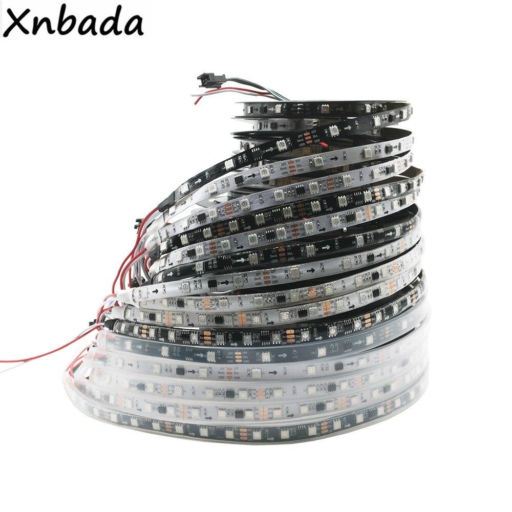 DC12V WS2811 5050 RGB Addressable Led Pixel Strip Light Full Colors Led Strip Ribbon Flexible Digital Led Tape 1 Ic Control 3