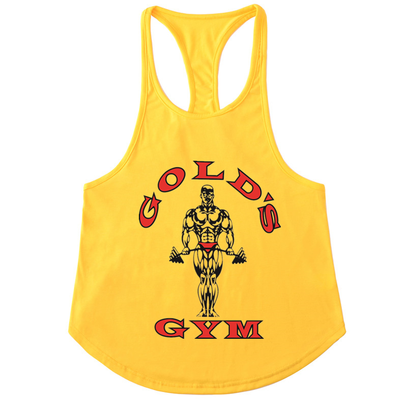 Men   Tank     Tops   Clothing Professional Men Vest Bodybuilding Fitness Cotton Golds Workout Men   Tank     Tops   Undershirt   Tops