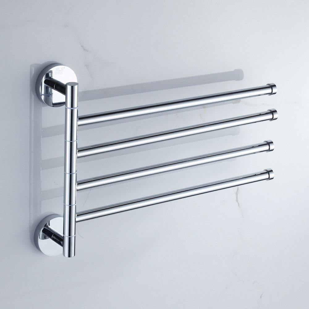 Solid Brass Rotary Towel Rack Toilet Hanging Rod Bathroom Movable ...