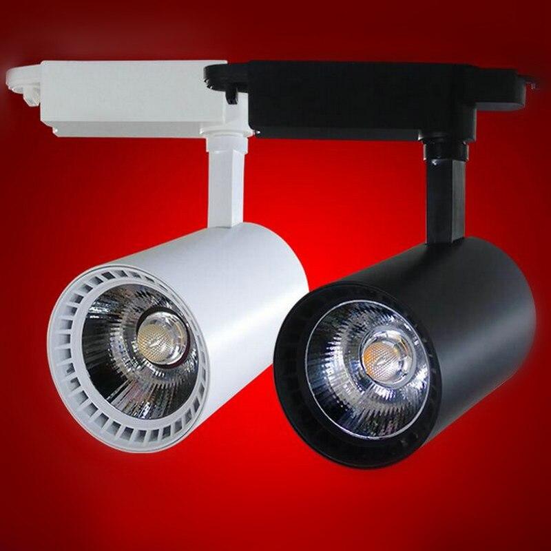 LED Track Light 20W COB 45mil 130 140lm/W Rail Lights Spotlight Equal 200W Halogen Lamp 110V 120V 220V 230V 240V