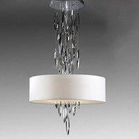 Новые простые Творческий европейском стиле Американский лампы гостиная столовая лампа спальня ткань капот пост современное искусство из н