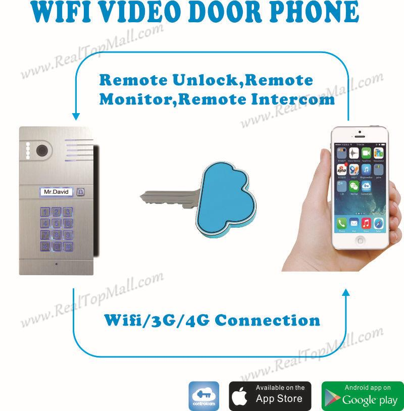 Ip Video Door Phone Intercom System Wireless Control IP Camera Video Intercom Remote Control Smart Doorbell via Smartphones