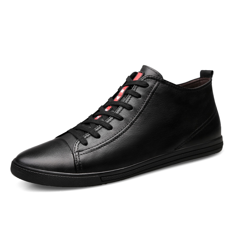 Brand Plus Size Men Ankle Boots Lace-Up Autumn Winter Footwear Male Leather Casual Shoes Black Man Fashion Outdoor Sneakers urbanfind men lace up casual shoes black white blue eu size 39 44 brand fashion men leather footwear for spring autumn