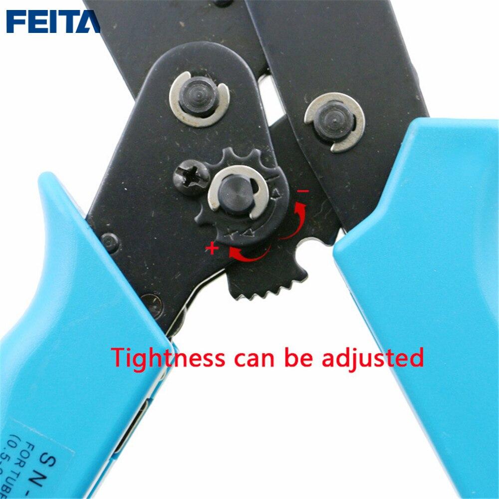 FEITA High-Carbon Steel Crimping Terminal Plier 0.5/0.75/1.5/2.5/4.0/6mm2 Crimper Terminal Wire Cable Clamp Crimper Press Tools
